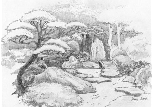 Beplantning i den japanske have